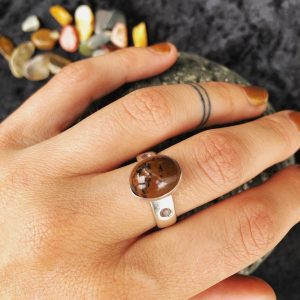 natural stone handmade ring